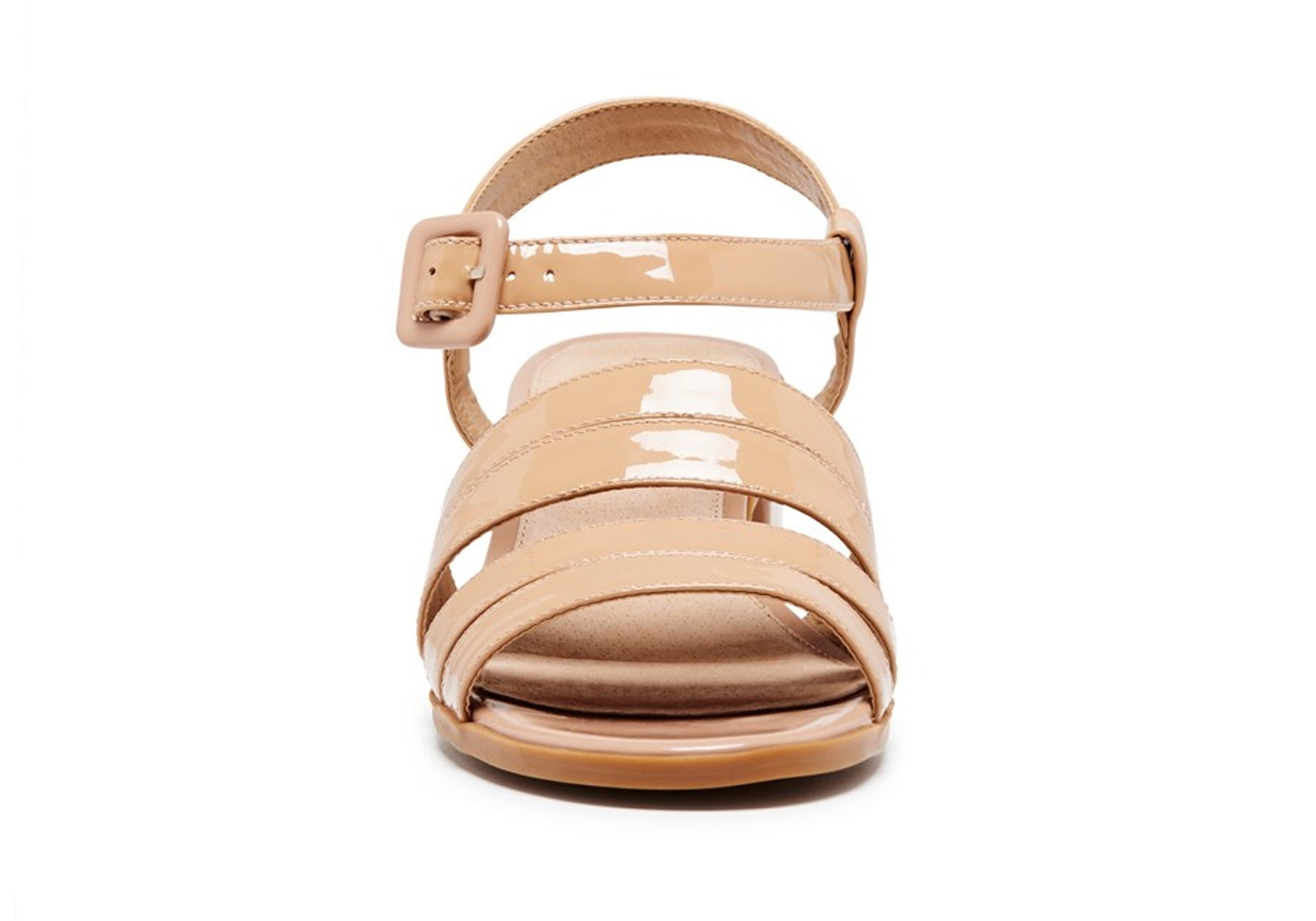 Hush Puppies Katniss Womens Leather Block Heel Sandals