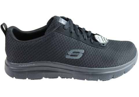 Skechers Mens Work Relaxed Fit Flex Advantage Bendon SR Lace Up Shoes