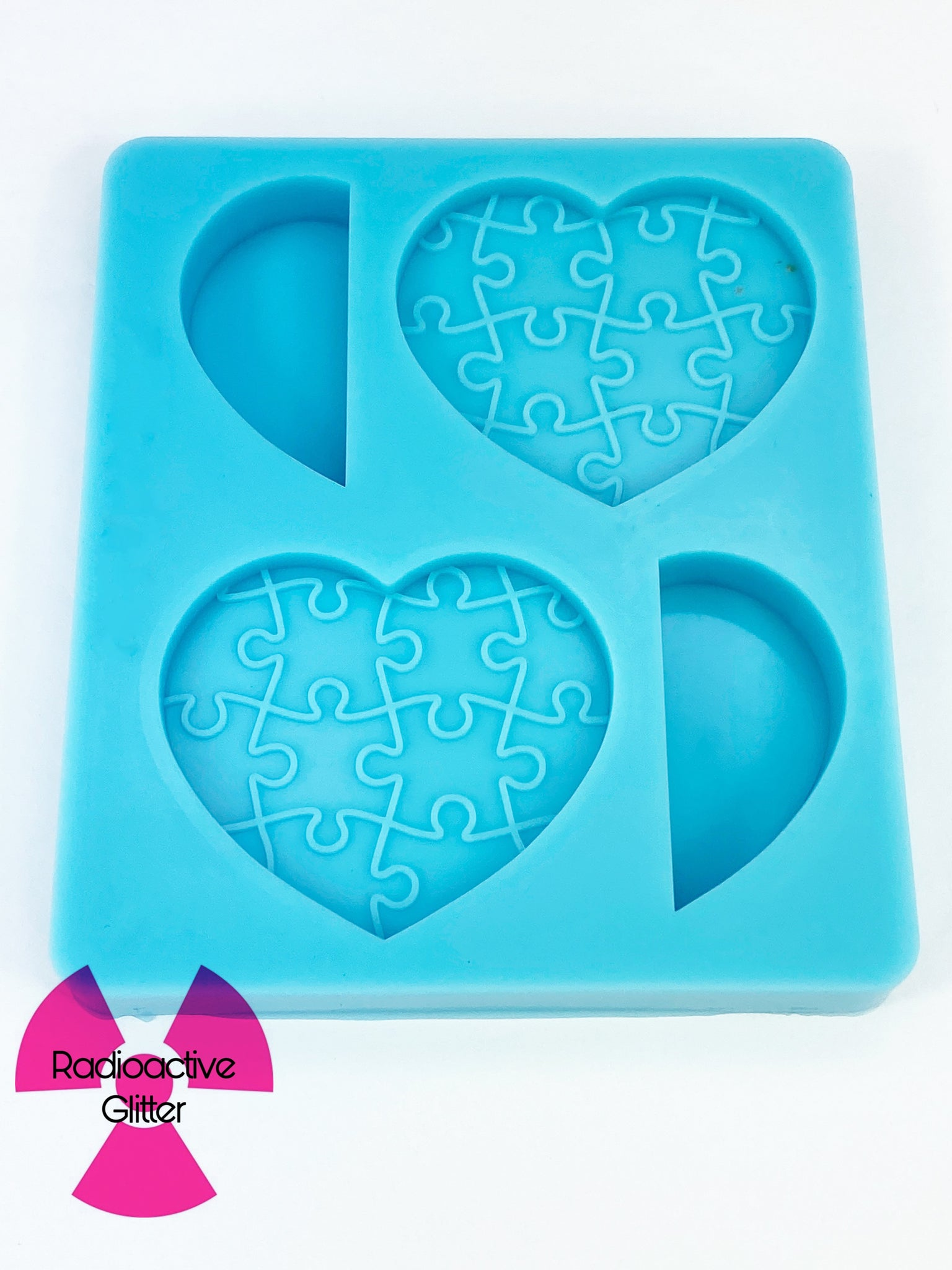 449 Puzzle Heart Straw Topper