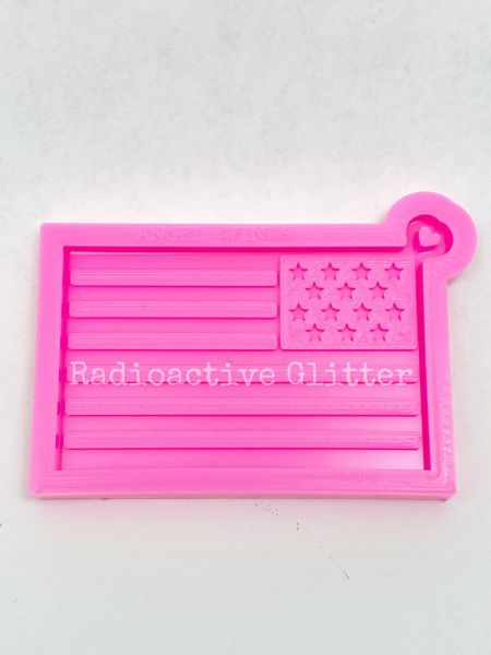 271 USA Flag Silicone Mold