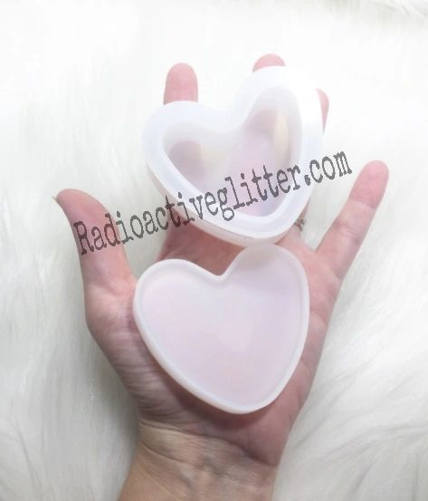 078 Heart Trinket Box Silicone Mold