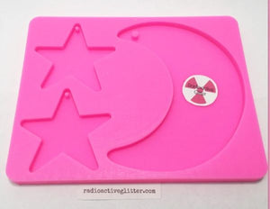 151 Moon Stars Silicone Mold