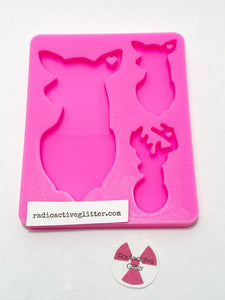 161 Deer Family Silicone Mold