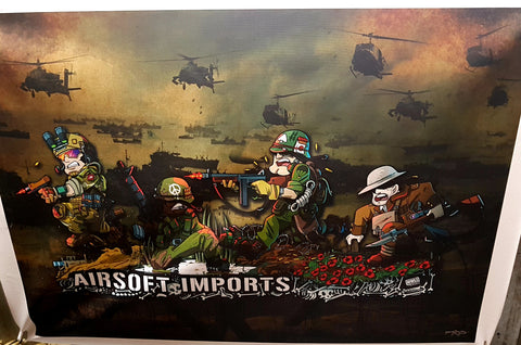 Hiwez Panoramic Warfare Lineage Canvas Print - Kill House CQB