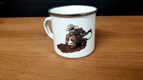 Hiwez WW1 Panoramic Warfare Enamel Mug - Kill House CQB
