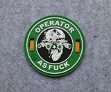 'Operator As F***' PVC Morale Patch - Kill House CQB