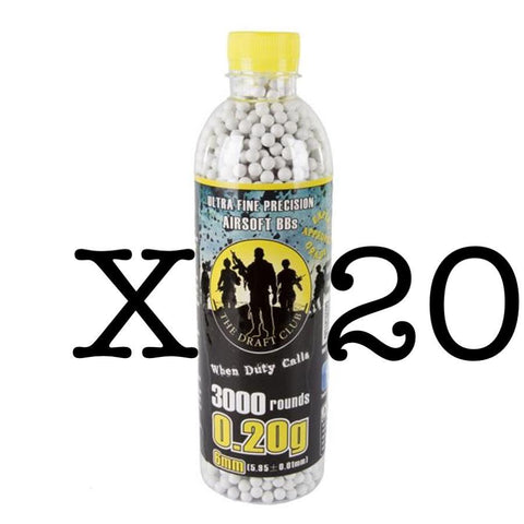 The Draft Club 6mm 0.20g Airsoft BBs X 20 - Kill House CQB