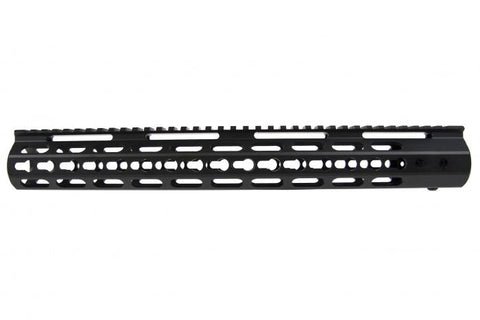 "NUPROL BOCCA KEYMOD 15"" RAIL - BLACK - Kill House CQB"