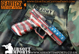 Geartech Custom Paint 'Murica' G17 GBB Pistol (Inc. Hard case) - Kill House CQB
