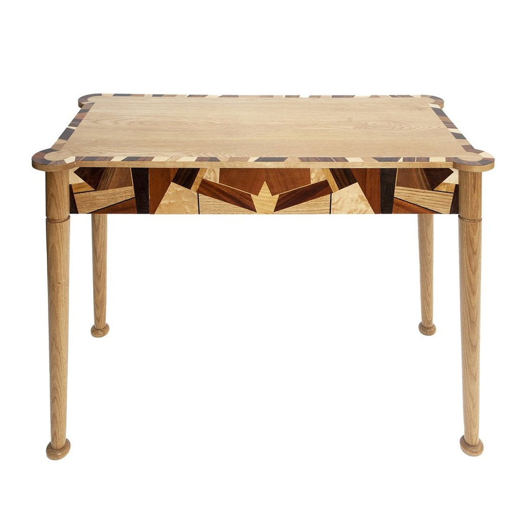 Oak and Marquetry Console Table