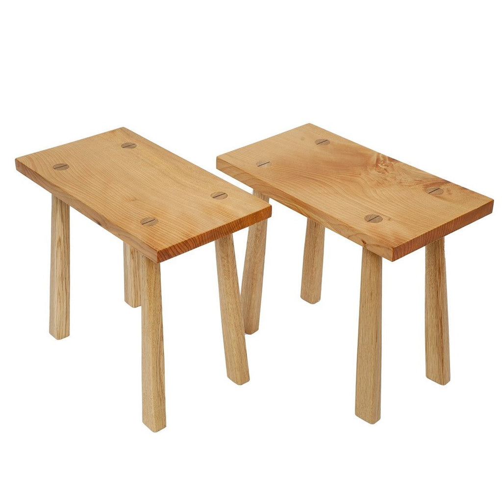 Ash and Cherry Stools - Robinson-Gay Cabinetmakers
