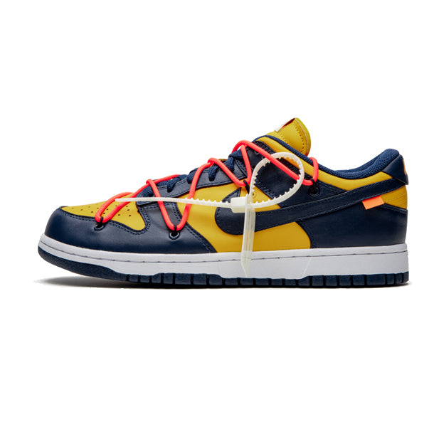 "Nike Dunk Low x Off-White ""University Gold"""