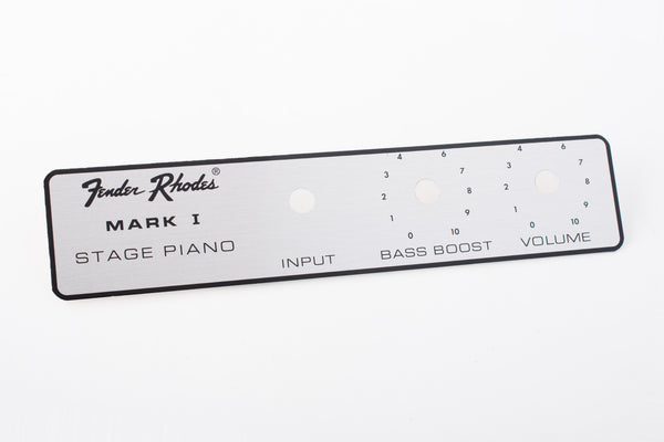 Fender Rhodes Stage Piano Name Plate