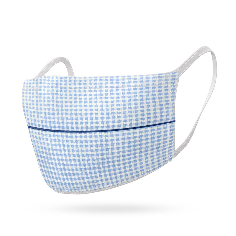 Adult Mask Blue Gingham
