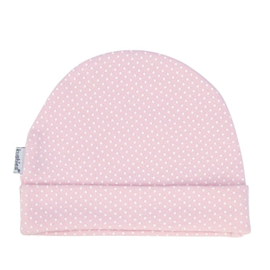 Baby Cap | Pink with White Polka Dots