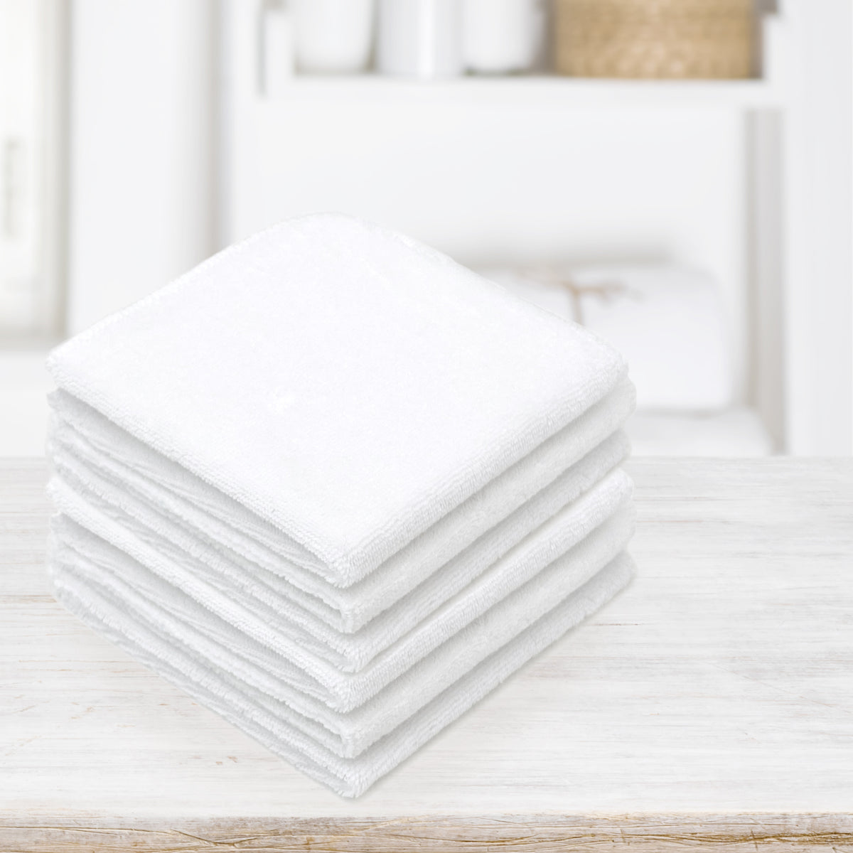 6-Pack Washcloths | White