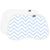 Burp Pads Chevron Blue - White