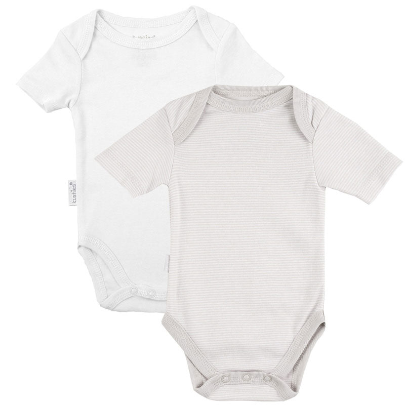 Short Sleeve Bodysuit 2 Pack | Grey