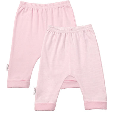 Cuffed Pant 2 Pack | Pink Solid-Stripe