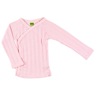 Long Sleeve Wrap Tee | Pink