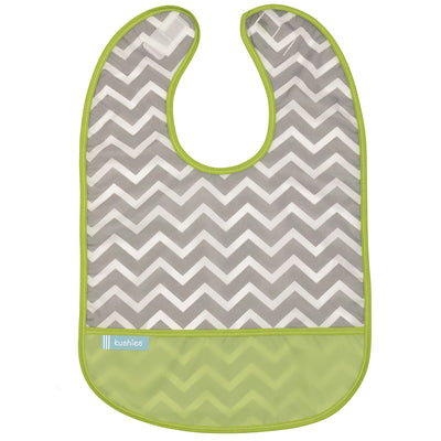 Cleanbib 2-pack | White Little Safari - Green Chevron