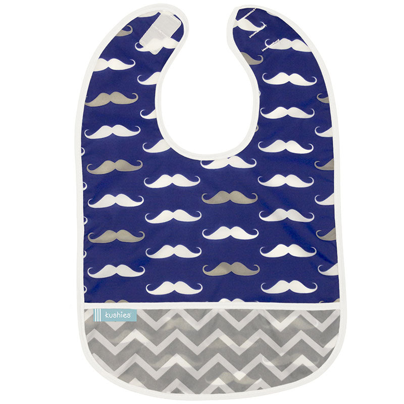 Cleanbib | Navy Moustache