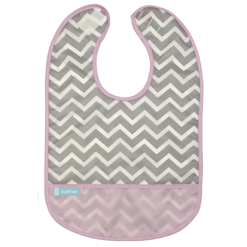 Cleanbib 3-pack | Pink Chevron
