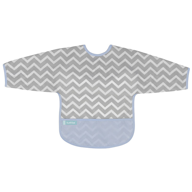 Cleanbib With Sleeves | Blue Chevron