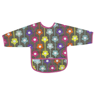 Cleanbib With Sleeves | Charcoal Daisies