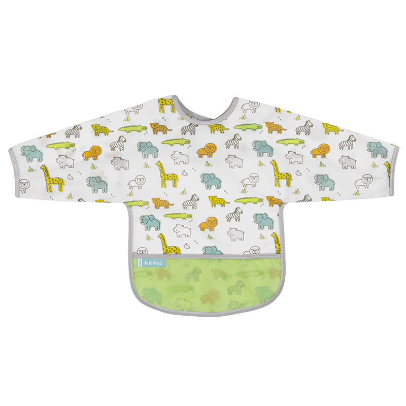 Cleanbib With Sleeves | White Little Safari