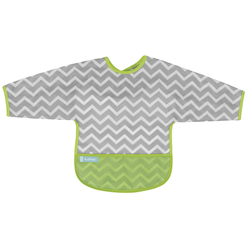 Cleanbib With Sleeves | Green Chevron