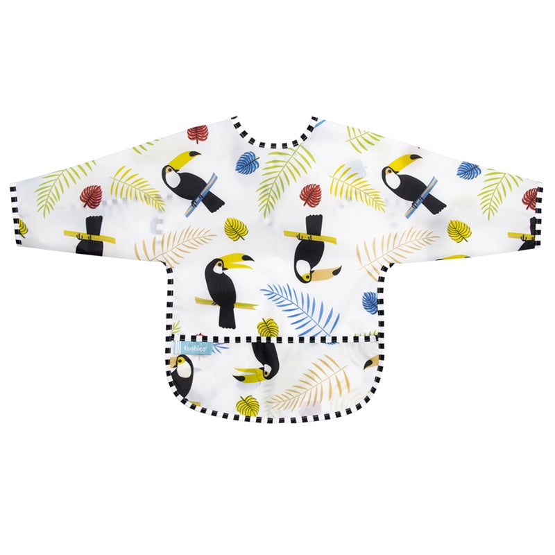 Cleanbib With Sleeves | White Toucans