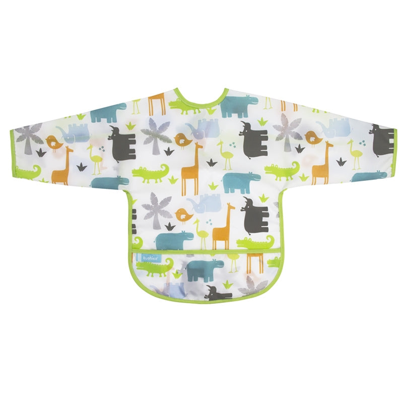 Cleanbib With Sleeves | White Jungle