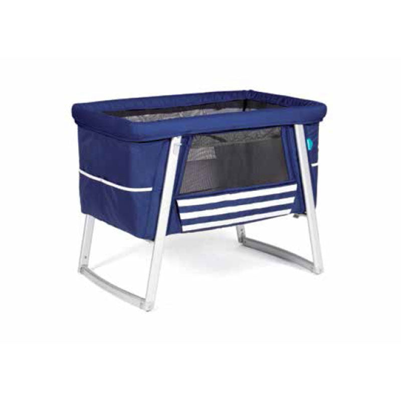 Babyhome Dream Air Baby Cot - Navy