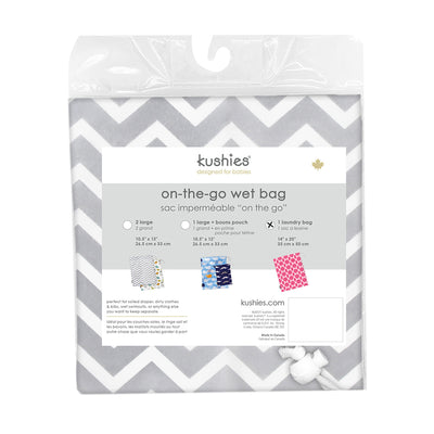 Waterproof Laundry Bag | Grey Chevron
