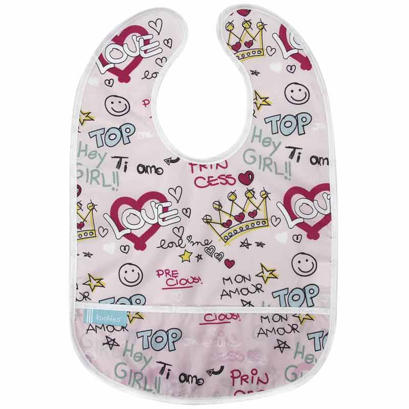 sleeveless clean bib graffiti pink