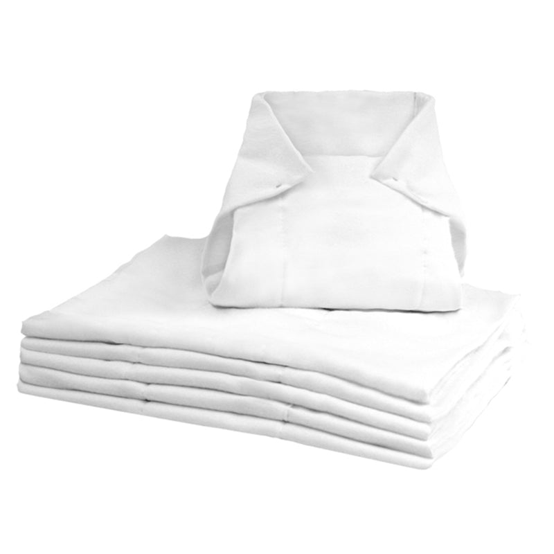 Pre-Fold Diapers White Pack of 6