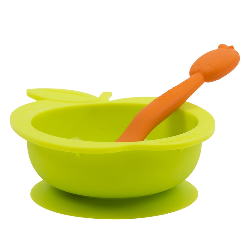 Silibowl & Spoon Set | Apple