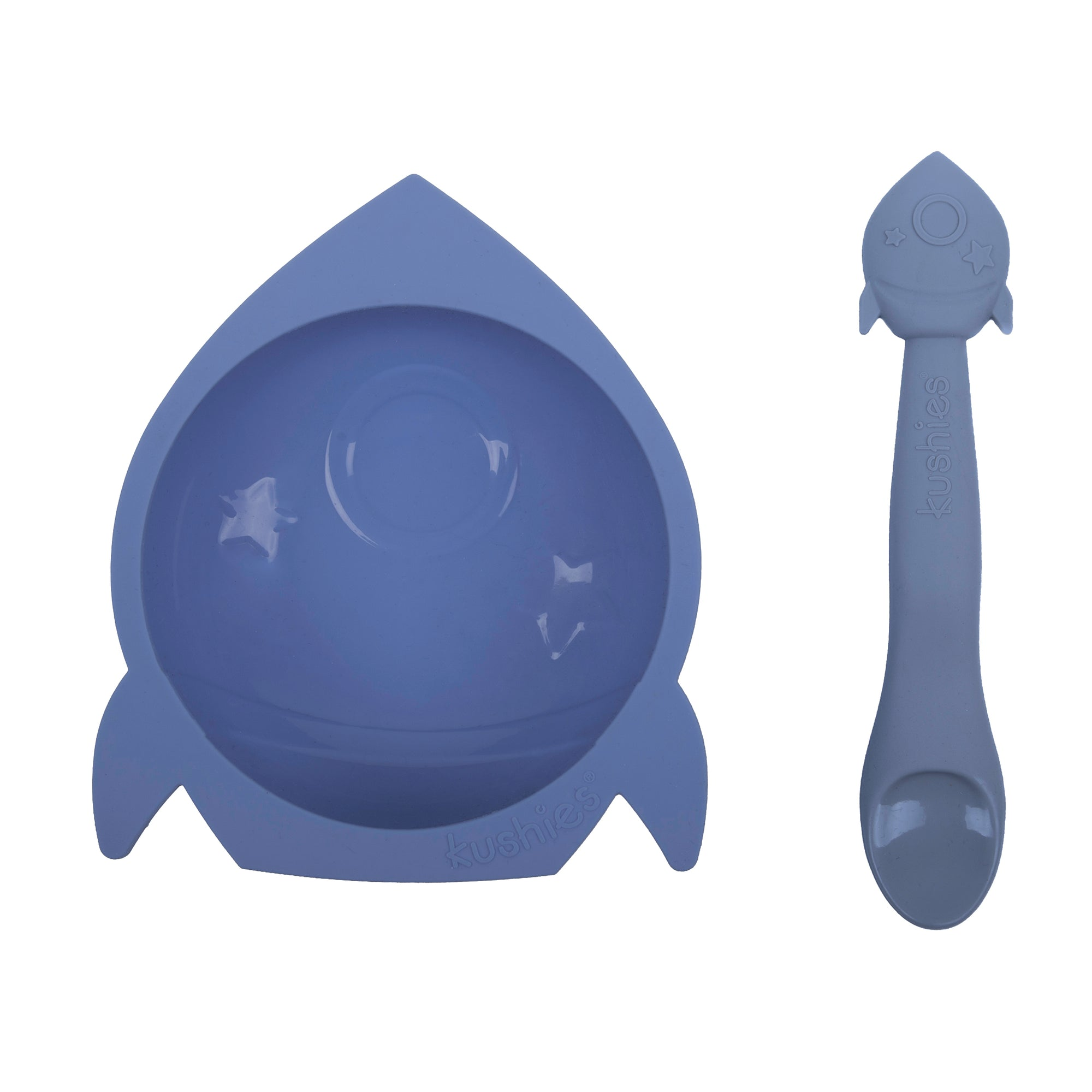 Silibowl & Spoon Set | Rocket