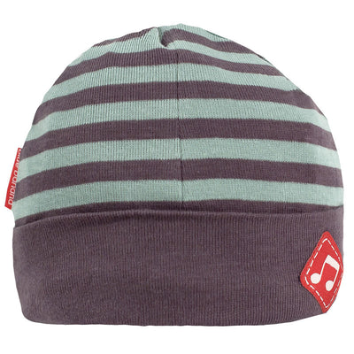 Rock A Bye Baby Hat Charcoal Stripe