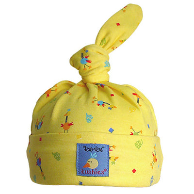 Ku Ku Bird Baby Cap Yellow
