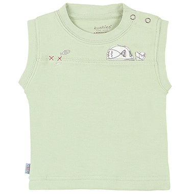Gone Fishing Sleeveless Top Green