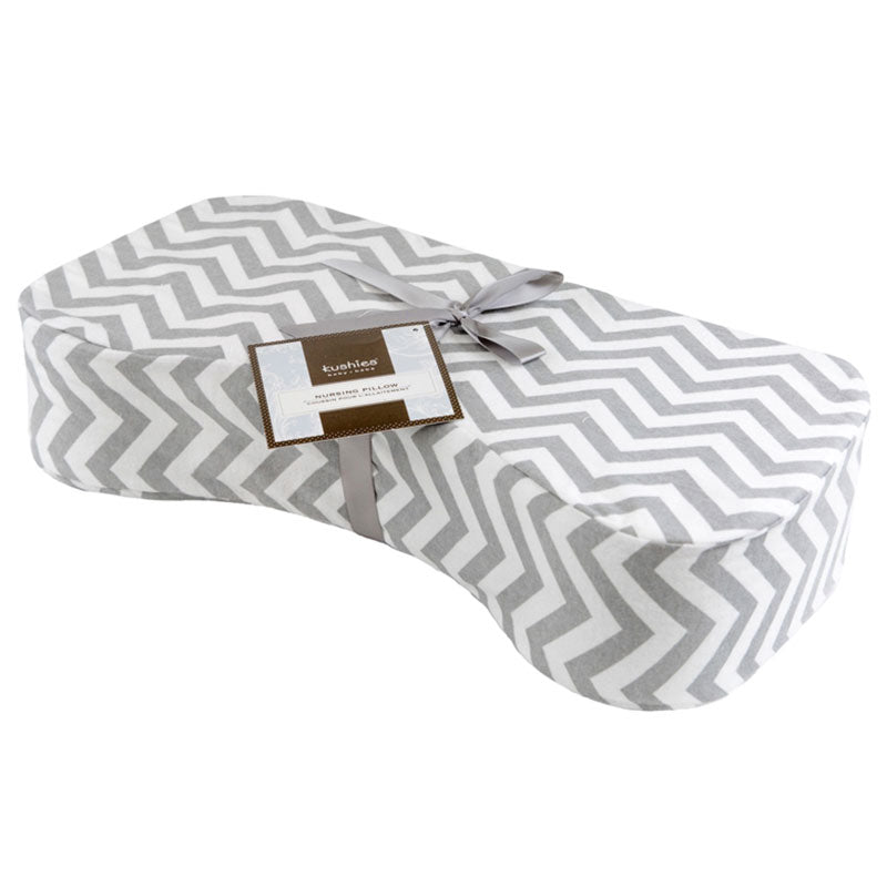 Nursing Pillow | Chevron Grey