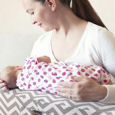 Mom and Baby with Nursing Pillow