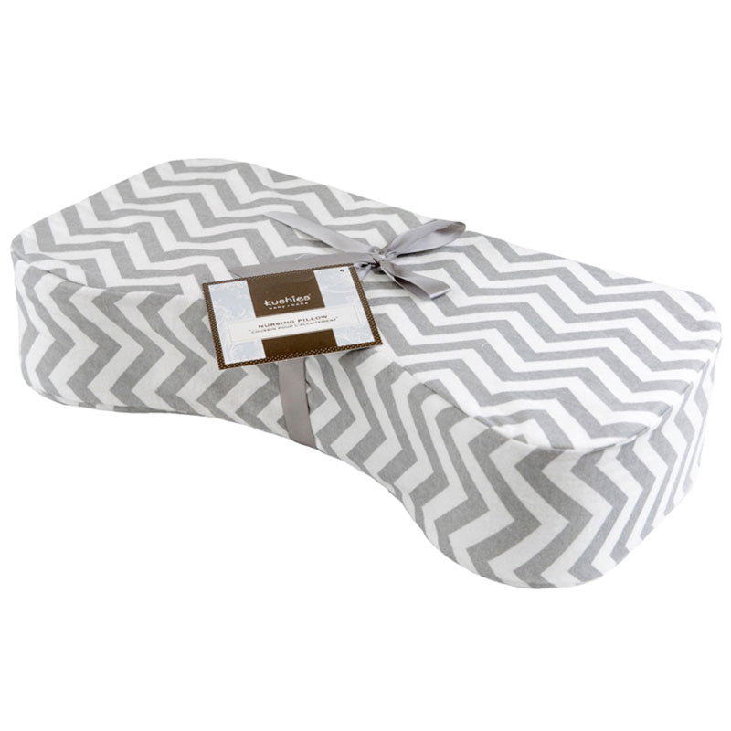 Nursing Pillow Cover | Chevron Grey