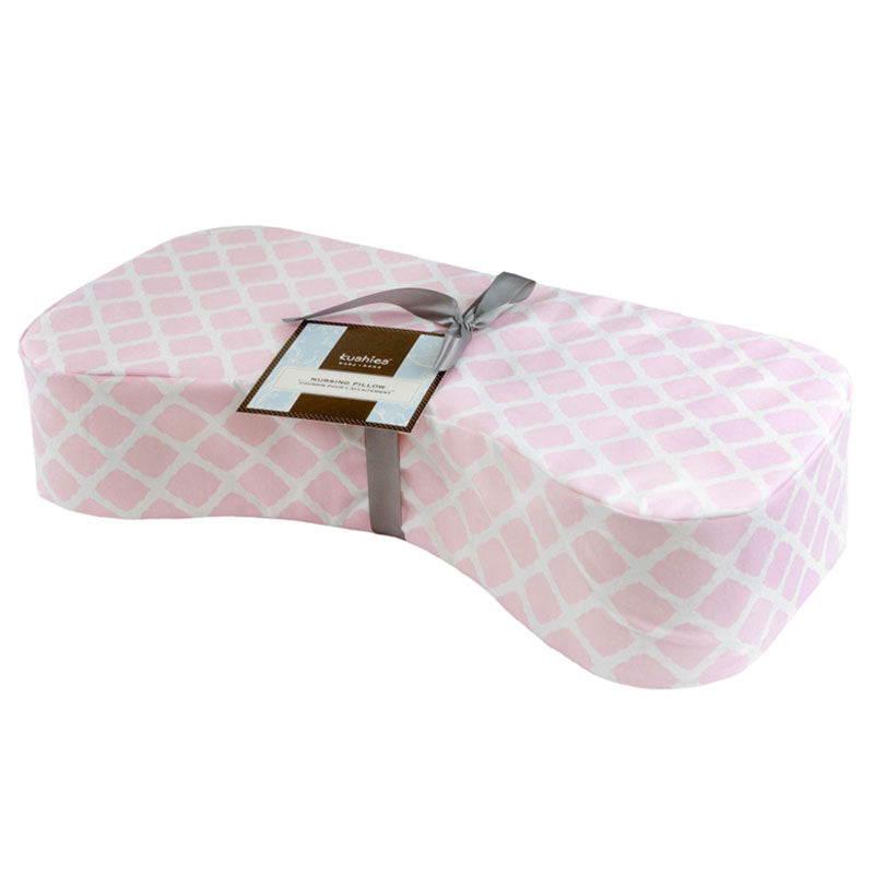 Nursing Pillow Cover | Lattice Pink