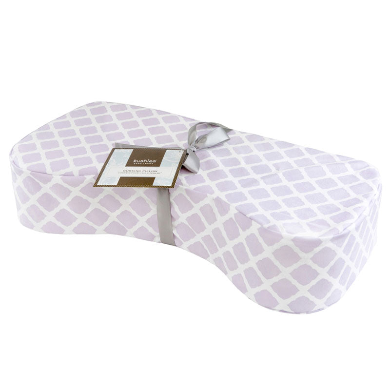 Nursing Pillow Cover |Lattice Lilac