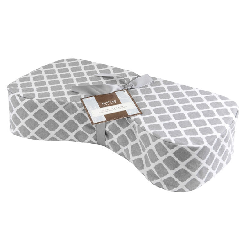 Nursing Pillow Cover | Lattice Grey