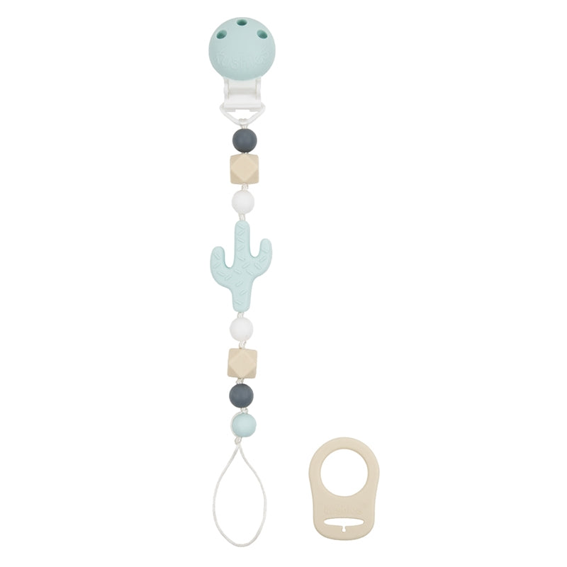 Silibeads Pacifier Clip | Cactus