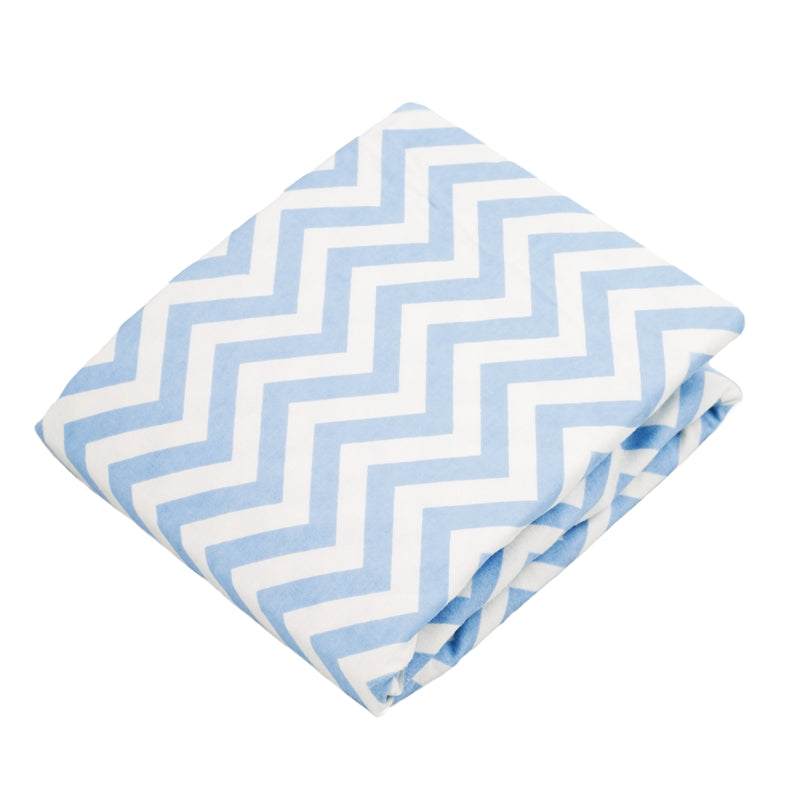 Bassinet Sheet | Chevron Blue